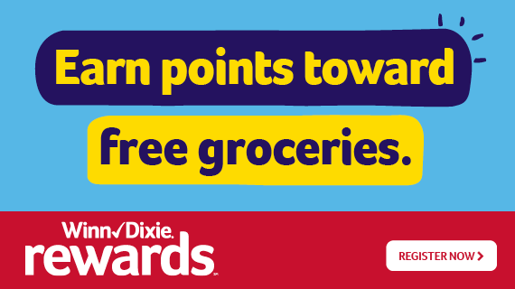 Earn points towards free groceries with Winn-Dixie Rewards