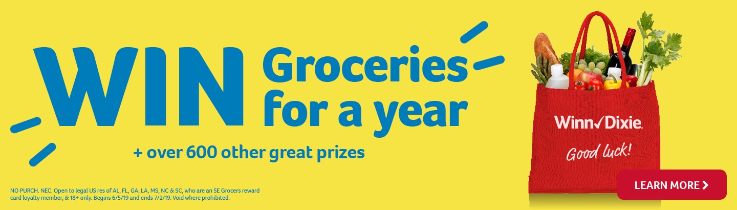 Win groceries for a year - learn more