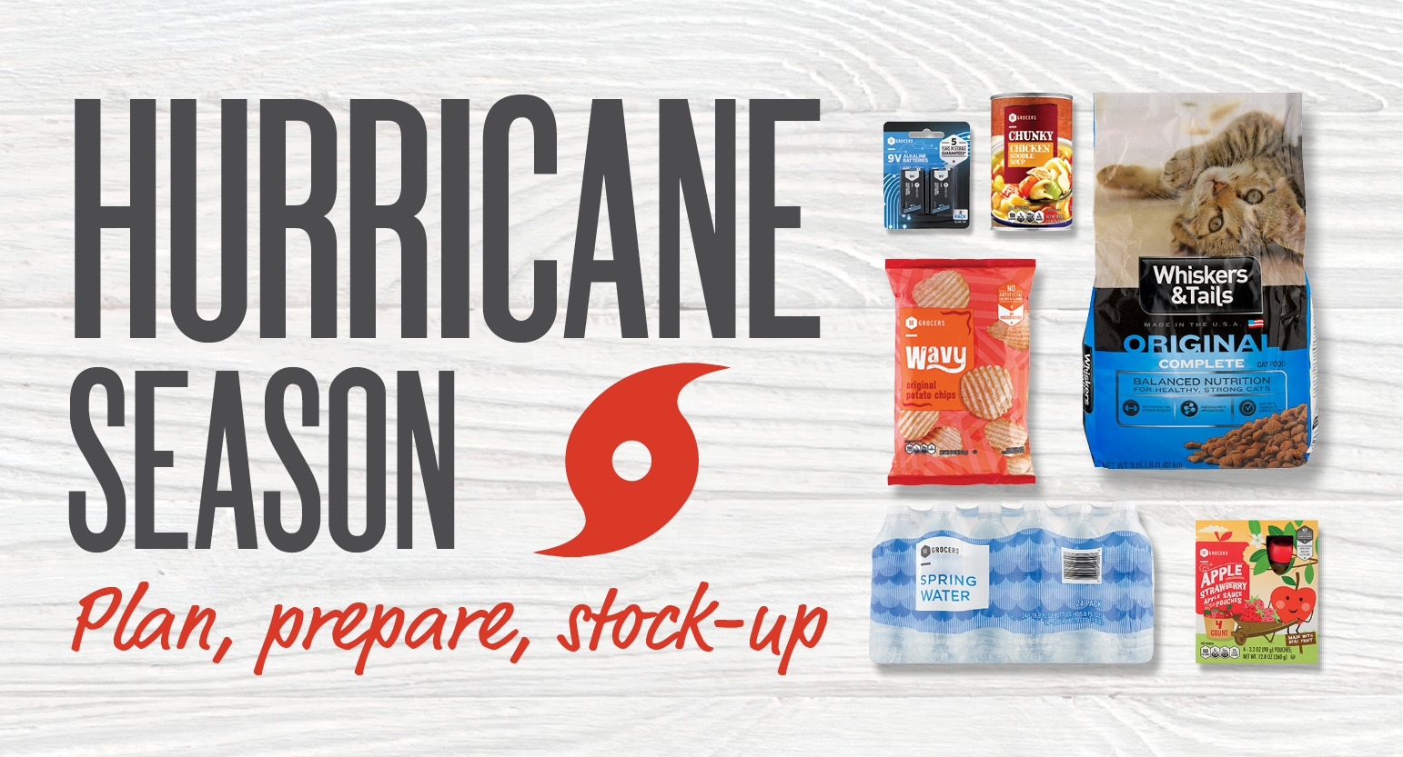 Hurricane season plan prepare stock-up