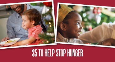 five dollars to help stop hunger